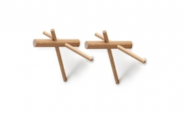 Normann Copenhagen - Sticks Hooks Oak 2pc