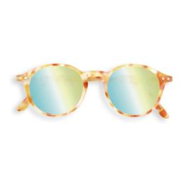 IZIPIZI  - Zonnebril Model #D spiegelglas Tortoise Geel