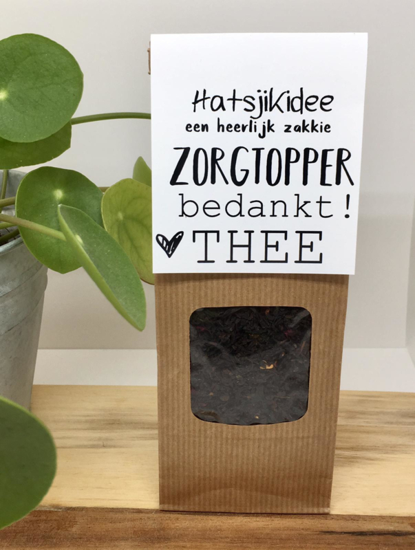 """Bedankt thee """"Zorgtopper thee"""""""