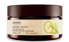 AHAVA Mineral Botanic Body Butter - Lemon & Sage