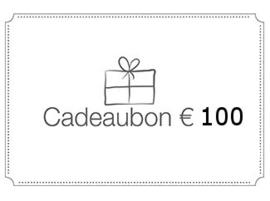 Cadeaubon ter waarde van € 100 geldig in ons schoonheidsinsitituut