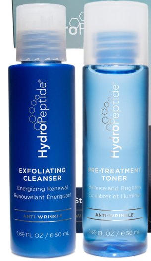 HydroPeptide 2-step starter set cleansers