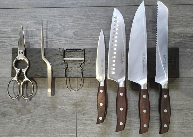 Knifestick Moeraseiken 42 cm ( 8 messen)