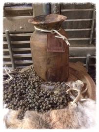 Oude houten sobere pot