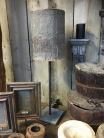 Staande tafellamp met stenen voet hoog 55 cm (zonder kap)