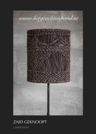 Lampen kap 1977 hoffz leer geknoopt maat 30x26 (zonder staande lamp)