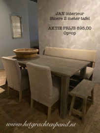 JAN interieur Stoere tafel 200 cm AKTIE