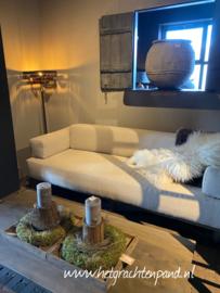 Sofa Boti maat 200 cm stof licht betreft showmodel foto 1