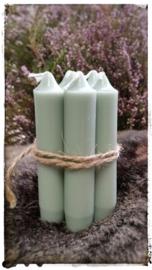 Kaarsen 7 stuks kleur groen 11 cm