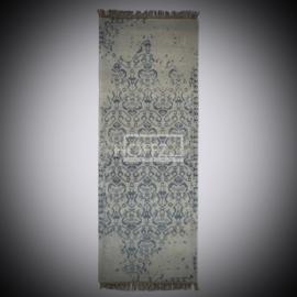 Tapijt vervaagde print grijs/beige maat 250x90