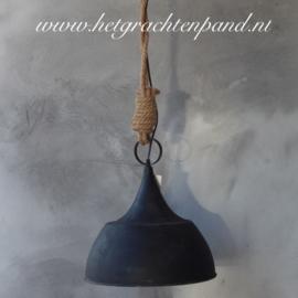 Hanglamp (23) met touw maat 35,5x35,5x36