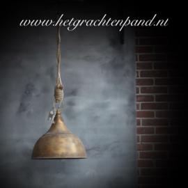 Hanglamp met touw koper 40,5x40,5x 43 cm