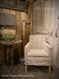 LEES lamp vierkant buis boog halogeen dimbaar petje  5 x 12 cm met stenen voet 120 cm