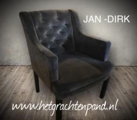 JAN - DIRK eetkamerstoel met capiton 55x60x90 zd51 zh48 armh68