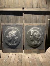 Kalkverfdoek op houten paneel set mm let op alleen ophalen in de winkel
