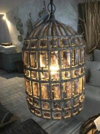 Hoffz hanglamp Zardosi maat  38x25 grote maat (nw collectie)