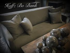 Hoffz Bo bank maat 220 x 86 x 100 los gestoffeerd incl 4 kussens  in Linara Lava  Rock