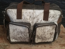 Bear design cow collectie met riem 45x35x15 type 3031