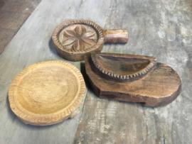 1 Oude houten cakevorm (zeepbakje) Aura Perperkorn