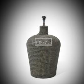 Lamp met ijzeren mantel H 70 cm Dia 39