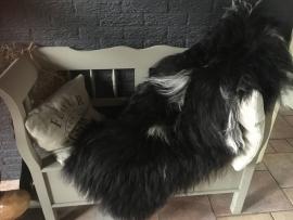 IJslandervacht zwart (lange haren) maat 120/140 - 80/90 cm A-KWALITEIT