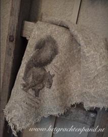 Shabby Linnen doek 45 x 45 Eekhoorn