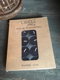 20 stuks waxine kleur zwart 9 branduur in cadeau verpakking