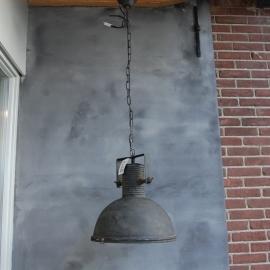 Hanglamp met glas 41.5 x 41.5 x 47 met ketting (043)