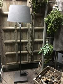 Staande hoffz lamp met vierkante voet (zonder kap)