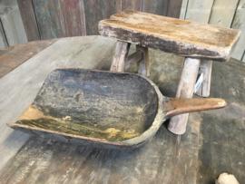 Oude houten gebruikte Rijstschep Aura Peeperkorn