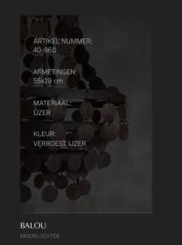 Hoffz kroonluchter schijfjes 55x29