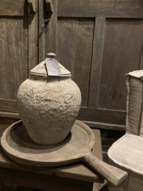 Potterie met deksel maat 38 x dia 27 ong