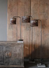 Tafel lamp ronde buis boog met stenen voet 50 cm  (zonder kap)
