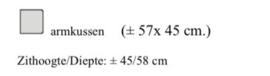 Kussen 57x45 cm   stofgroep A