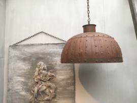 Stoere hanglamp roest dia 50cm (zonder elektra)