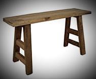 Krukje / bankje 80x23x45 old wood hs