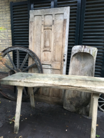 Oude werkbank/tafel (slachttafel) maat  55x164 x 80