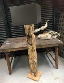 lampenkap passend op de driftwood staande lamp in Zwart of Zandkleur