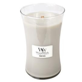 Woodwick Large Candle Warm Wool (De geur Woodwick Warm Wool is een aangename geur om even lekker tot je zelf te komen en heerlijk te ontspannen.)