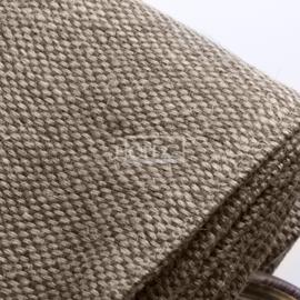 Hoffz Gordijn met lederen lus 60% linnen 40% jute Stoned Wash maat  200x270 cm