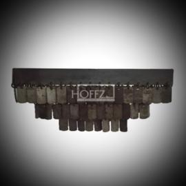 Hoffz plafondlamp Ghuda vierkant maat 31x31x17,5 (1933)