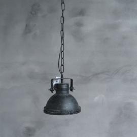 Xs hanglamp met ketting 22x22x24 glas (56)