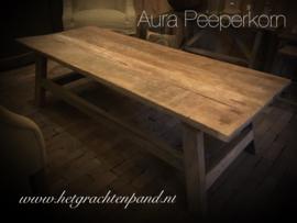 Salontafel oud hout prachtig doorleefd maat 150x60x45