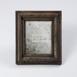 Hoffz spiegel antiek glas oud hout maat L33 x H38 cm