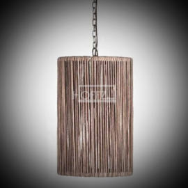 Lederen koker hanglamp maat  42x26