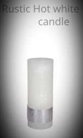 8x5 cm kaars ambient in de kleur Wit/Lichtgrijs / Donkergrijs / Bruin of Zwart