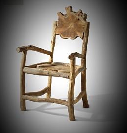 (Eet)kamer stoel old wood authentiek 55x50x95