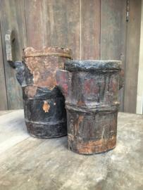 1 Oude Chinese houten kan Aura Peeperkorn