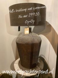 Lamp met ijzerenmantel H 90 cm Dia 47