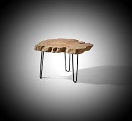 Koffie Tafel op ijzeren poten ong 60x45